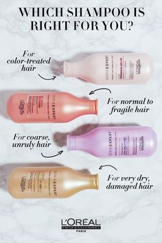 Which shampoo is right for your hair type? Serie Expert covers all hair types and problems.
