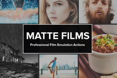 33 Pro Matte Film Actions by SparkleStock on Creative Market