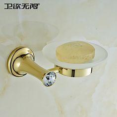 weiyuwuxian® hedendaagse gouden kristal messing zeepbakjes 1400834 2016 – €26.45