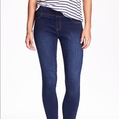 Dark wash skinny jeggings Old Navy skinny jeggings. Brand new without tags. Never worn. Old Navy Jeans Skinny