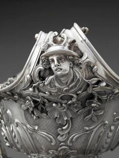 """William Cripps, """"Detail, Epergne,"""" 1754, silver. The Rienzi Collection, museum purchase with funds provided by the Rienzi Society."""