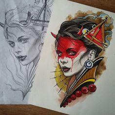 """Képtalálat a következőre: """"samurai girl tattoo"""""""