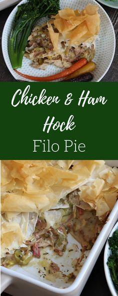 Chicken & Ham Hock Filo Pie – Curly's Cooking