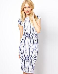 River Island Tie Dye Mirror Print Column Dress