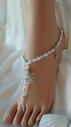 Starfish Beach Barefoot Sandals, Bridal Jewelry for the Beach Bride and Bridesmaids. $55.95, via Etsy.