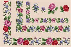 VK is the largest European social network with more than 100 million active users. Cross Stitch Rose, Cross Stitch Borders, Cross Stitch Flowers, Cross Stitch Designs, Cross Stitching, Cross Stitch Embroidery, Hand Embroidery, Cross Stitch Patterns, Vintage Floral Wallpapers
