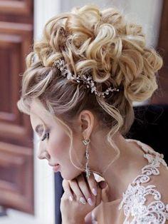 Haar-Make-up - Hair Makeup - Hochzeitsfrisuren-braided wedding updo-Wedding Hairstyles Wedding Updo, Wedding Beauty, Crown Hairstyles, Wedding Hairstyles, Anna Hair, Quinceanera Hairstyles, Wedding Hair Inspiration, Bridesmaid Hair, Hair Dos