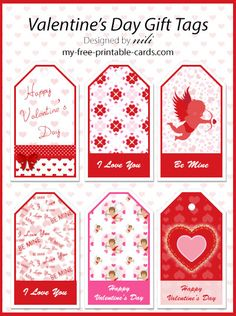 Printable Gift of February High quality Printable Valentine's Day Bokkmarks,Gift Tags, Note Cards - print at home and for FREE. Printable Valentines Day Cards, Free Printable Gift Tags, Happy Valentines Day, Valentine Cards, Valentine's Day Printables, Christmas Gift Tags, Template, Graphics, Sign