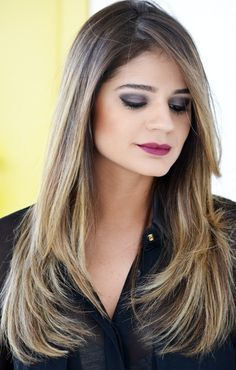 Ombré hair Thassia Naves