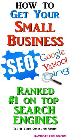 HOW TO GET YOUR BUSINESS ON THE FIRST PAGE OF GOOGLE, BING AND YAHOO. From: DavidStilesBlog.com. #rank, #searchengine, #firstpageofgoogle