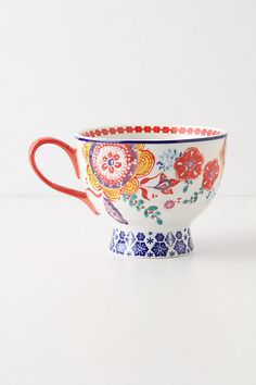 Awesome colorful tea cup.