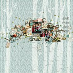 Kit: Woodland Winter: Collection by Studio Flergs  //  Template: Quick Scraps Vol. 7 by Anita Designs