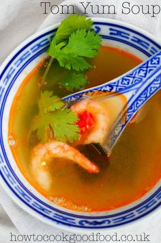 how to cook good food | Tom Yum Soup with Prawns | http://www.howtocookgoodfood.co.uk