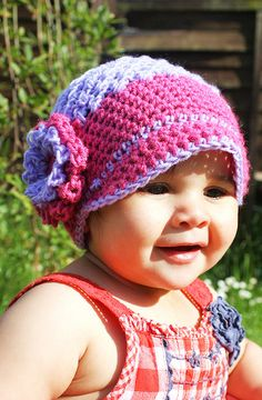 2T to 4T Newsgirl Hat  Boutique Flower Flapper Beanie  by BabaMoon, $36.00