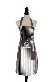 MR GOOD LOOKING APRON Linen Apron, Kitchen Linens, Tea Towels, Home Kitchens, How To Look Better, Black, Fashion, Moda, Dish Towels