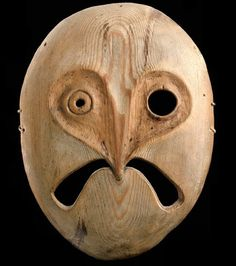 Owl spirit mask from the Lower Yukon River, Alaska