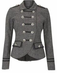 chaquetas corte militar mujer - Buscar con Google: