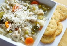 Cooking With Libby: Chicken and Orzo Soup {Slow Cooker Monday}
