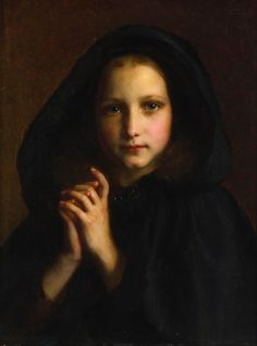 Etienne Adolphe Piot (1850-1910) Girl with a cape
