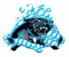 NIKE LOCKUP NFL CAROLINA PANTERS MEN RECEIVER FOOTBALL GLOVES WAS  100  Football Cleats 4c47719ec