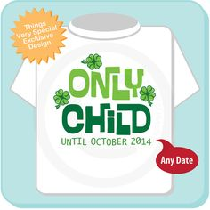 Boy's or Girl's St Patrick's Day Pregnancy by ThingsVerySpecial