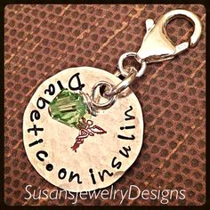 Medical Alert Clip on Charm sterling by SusansJewelryDesigns
