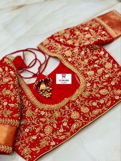 Cutwork Blouse Designs, Pattu Saree Blouse Designs, Half Saree Designs, Simple Blouse Designs, Embroidery Neck Designs, Stylish Blouse Design, Bridal Blouse Designs, Hand Work Blouse Design, Designer Blouse Patterns