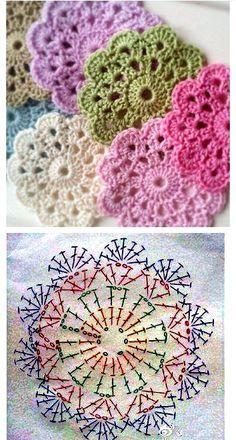 Transcendent Crochet a Solid Granny Square Ideas. Inconceivable Crochet a Solid Granny Square Ideas. Flower Motif, Crochet Flower Patterns, Crochet Mandala, Afghan Crochet Patterns, Crochet Afghans, Crochet Chart, Crochet Squares, Crochet Doilies, Crochet Flowers