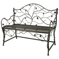 Nature lovers will appreciate the organic and striking Bench Scroll Design with Leaf. Crafted from durable metal, this piece features a rich, attractive Black Moss finish and unique leaf detailing throughout. This unique finish features green accents throughout for a textured look. It is ideally suited to eclectic and transitional-style settings. This is the perfect addition to your outdoor living area.Price includes the Metal Garden Bench With Leaf Design and Free Shipping within the…