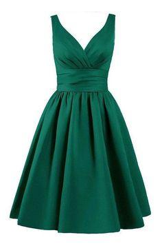 Off the Shouder V Neck Green Elegant Short Homecoming Dresses Prom Cocktail Dress LD348