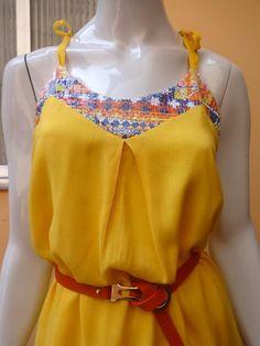 Vestido Amarelo Disponível somente no tamanho M