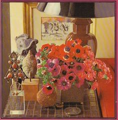 Via blog Lucindaville: The David Hicks Book of Flower Arranging. More anemones! #DavidHicks