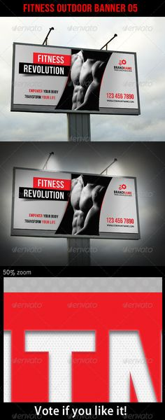 Fitness Outdoor Banner 05 — Photoshop PSD #simply #fitness Banner • Available here → https://graphicriver.net/item/fitness-outdoor-banner-05/5682680?ref=pxcr