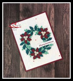 Create adorable Christmas wreaths with the Wreath Builder Dies. Color used are Just Jade, Pretty Peacok & Merry Merlot - Stampin' Up! Christmas Wreaths, Christmas Cards, Arts And Crafts, Paper Crafts, Cherry Cobbler, Punch Out, Stamping Up, Poinsettia, Plushies