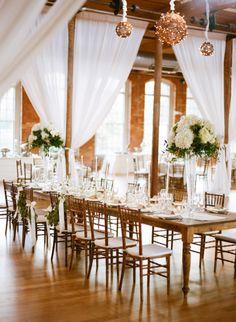 Rustic elegance wedding table: http://www.stylemepretty.com/2014/12/02/classic-north-carolina-wedding-at-the-carolina-inn/ | Photography: Graham Terhune - http://www.grahamterhune.com/