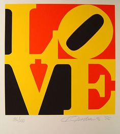 Available for sale from KM Fine Arts, Robert Indiana, The Book of Love 9 Serigraph, 24 × 20 in Book Of Love, The Book, Indiana Love, Hard Edge Painting, Love Spell That Work, Art Ancien, Assemblage Art, Love Spells, Magazine Art