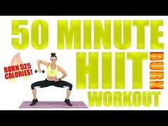 50 Minute HIIT Burn With Dumbbells - YouTube