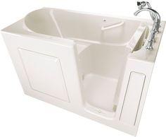 "American Standard 3060.509.AR Value 60"" Acrylic Walk-In Air Bathtub for Alcove I Linen Walk In Tub Air Alcove"