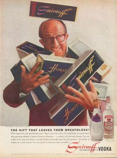 0 Phil Silvers for Smirnoff Vodka ad 1959