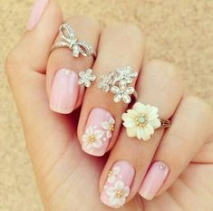 Hey there lovers of nail art! In this post we are going to share with you some Magnificent Nail Art Designs that are going to catch your eye and that you will want to copy for sure. Nail art is gaining more… Read more › Pink Nail Art, 3d Nail Art, 3d Nails, Cute Nails, Pretty Nails, Pastel Nail, Pink Manicure, Fancy Nails, Nail Art Designs