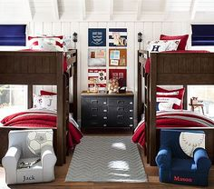 Parker Twin-Over-Twin Bunk #pbkids