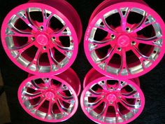 pink rims - Yahoo Im Pretty In Pink, Pink Wheels, Rims For Sale, Barbie Car, Pink Jeep, Pink Chevy, Pink Rims, Pink Truck, Girly Car