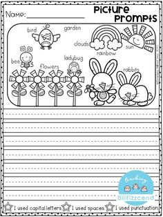Writing prompts: Picture Prompts for first grade. This is also great for kindergarten and second grade to build confidence in writing. Writing Prompts Poetry, Writing Prompts For Writers, Picture Writing Prompts, Creative Writing Prompts, Writing Strategies, Writing Ideas, 1st Grade Writing, Teaching First Grade, Kindergarten Writing