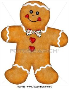 Drawing of A gingerbread man having a gingerbread cookie with hot ...