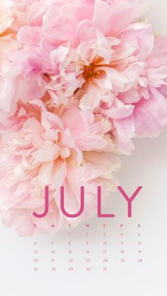 Happy July! Desktop Calendar + IPhone Wallpaper