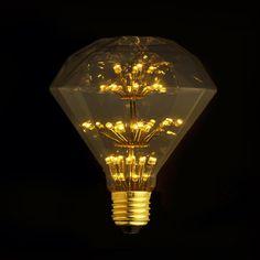 E27 LED Edison Fireworks Light Bulb // Diamond