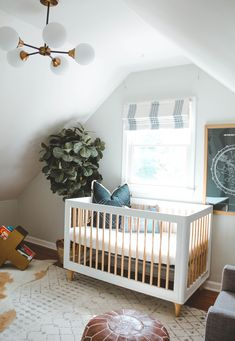 Mom Hack Monday- Cruze's Nursery Reveal, mid century nursery, baby boy nursery