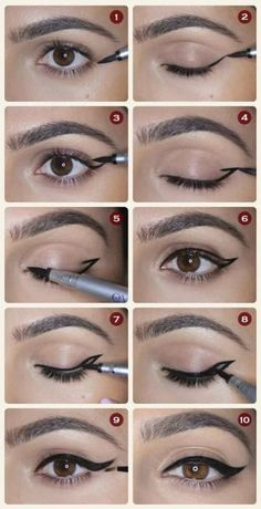 21 simple eyeliner hacks everyone should try - http: //embassy-toptrendspint. - 21 simple eyeliner hacks everyone should try embassy top trends … - Eyeliner Hacks, Eyeliner Styles, How To Apply Eyeliner, No Eyeliner Makeup, Eye Makeup Tips, Makeup Tricks, Diy Makeup, Beauty Makeup, Easy Eyeliner