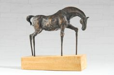 Bronze statue of small horse  marble base limited by Fausova, $1380.00