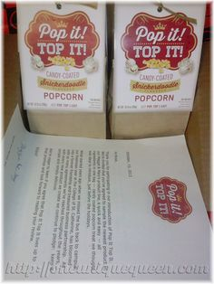 #Win a Pop It! Top It! Flavored Popcorn Prize Pack via @OneUniqueQueen #Giveaway